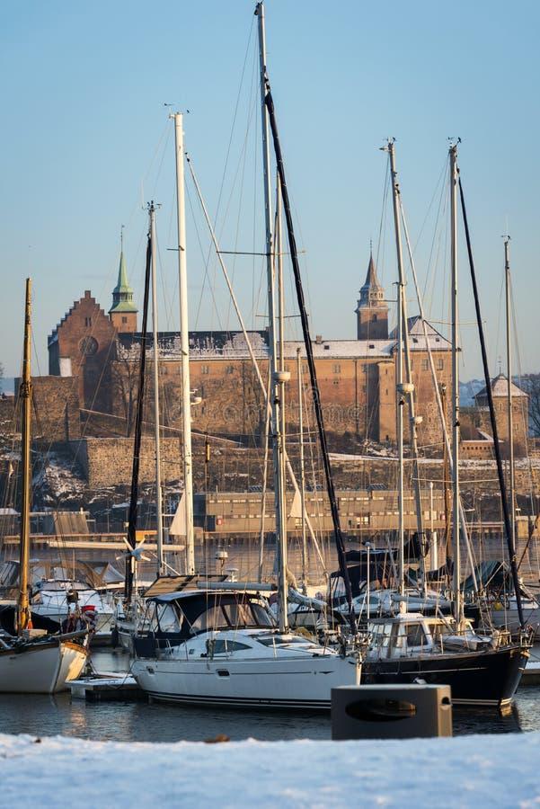 Fortezza di Akershus, Oslo, Norvegia fotografia stock libera da diritti