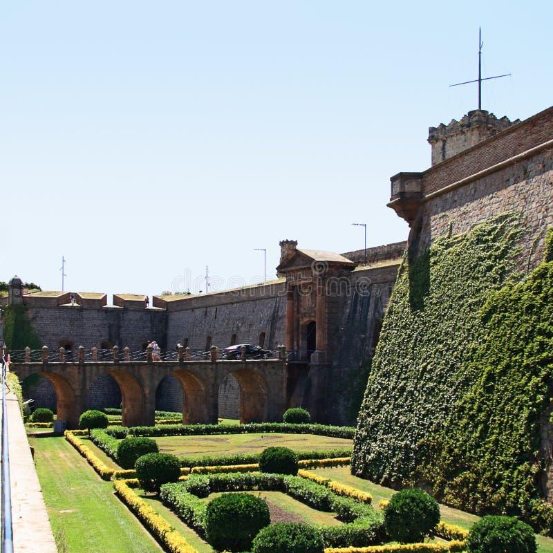 Fortezza di Barcellona immagini stock