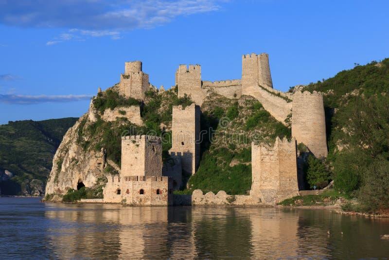 Fortezza di Golubac in Serbia immagini stock