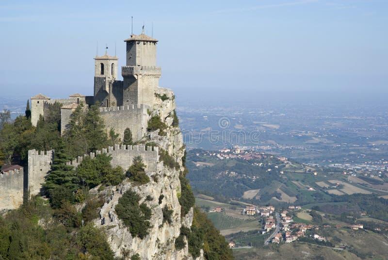 Fortezza di Guaita, San Marino Republic fotografie stock libere da diritti