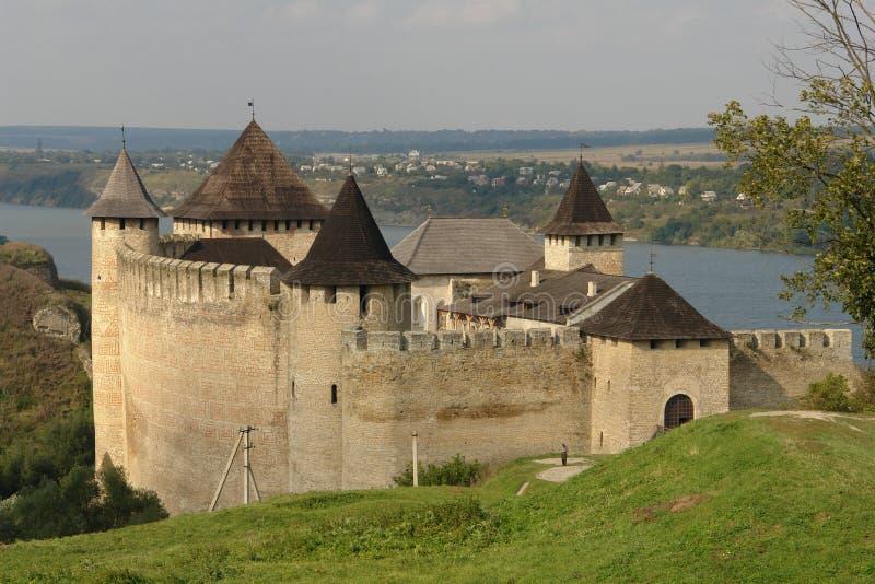Fortezza di Hotyn, Ucraina occidentale fotografie stock libere da diritti