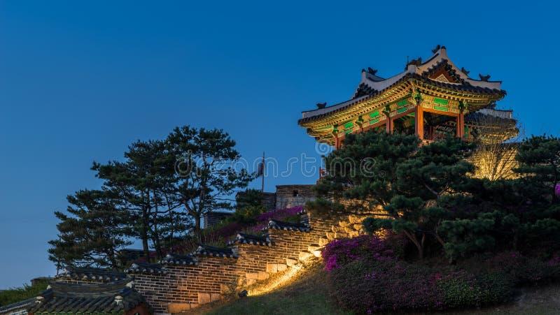 Fortezza di Hwaseong fotografie stock libere da diritti