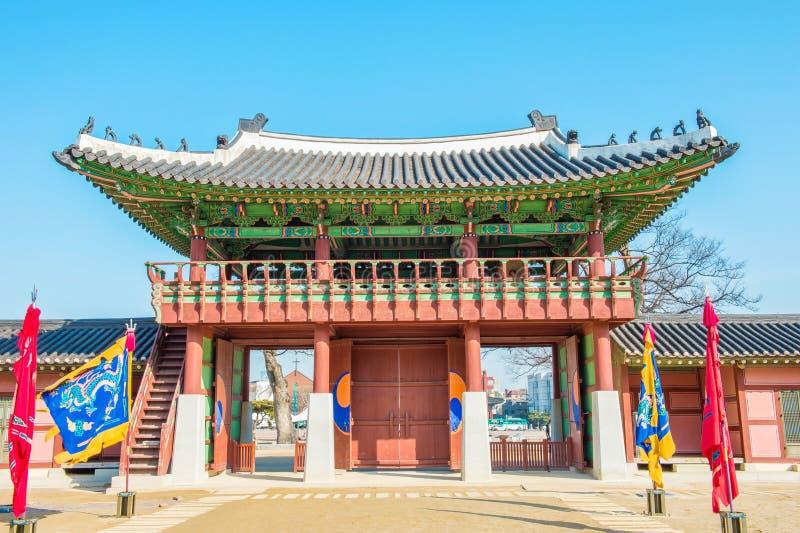 Fortezza di Hwaseong a Suwon, Corea fotografia stock libera da diritti