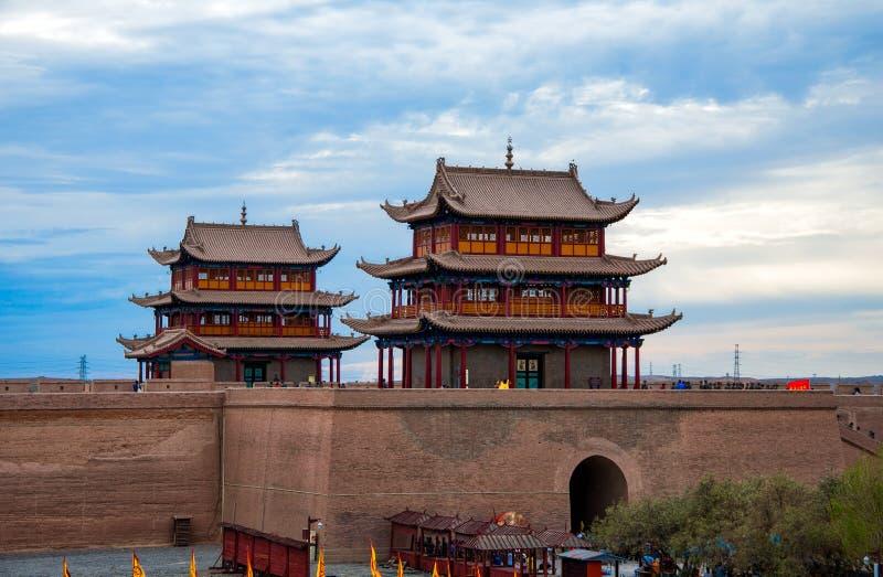 Fortezza di Jiayuguan in Cina fotografia stock