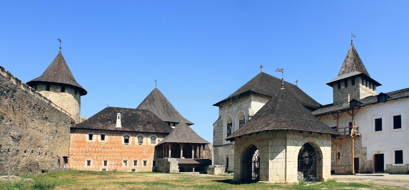 Fortezza di Khotyn fotografie stock libere da diritti