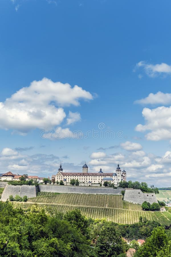 Fortezza di Marienberg a Wurzburg, Baviera, Germania fotografie stock