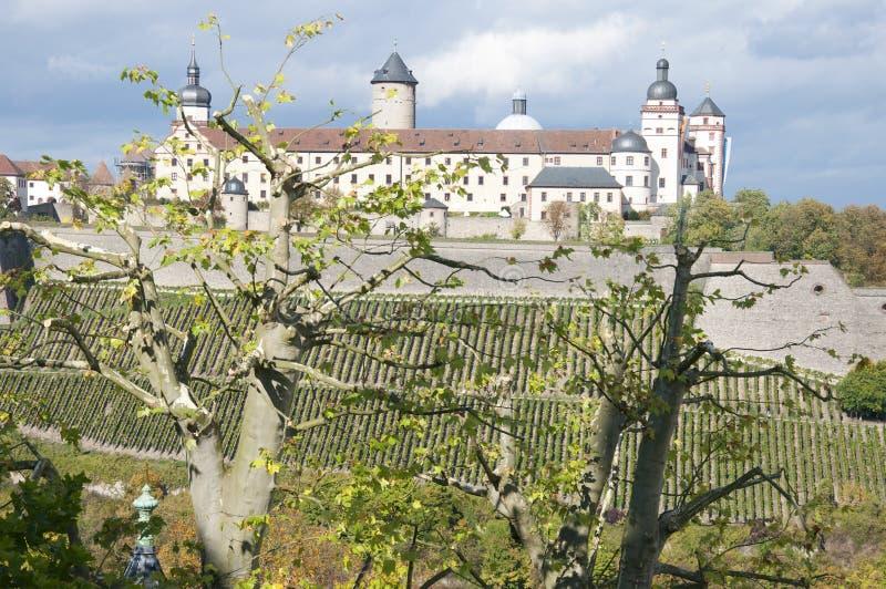Fortezza di Marienberg a Wurzburg, Germania fotografie stock libere da diritti