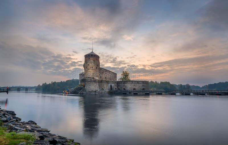 Fortezza di Olavinlinna fotografia stock