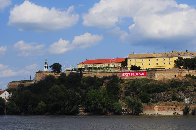 Fortezza di Petrovaradin durante il festival dell'uscita immagini stock
