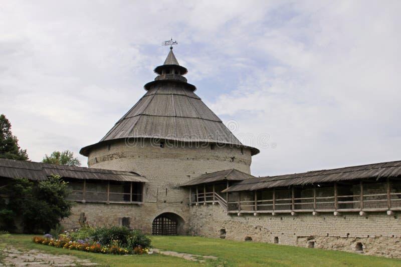 Fortezza di Pskov della torre di intercessione immagine stock libera da diritti