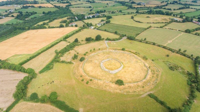 Fortezza di Rathgall shillelagh contea Wicklow, Irlanda fotografia stock libera da diritti