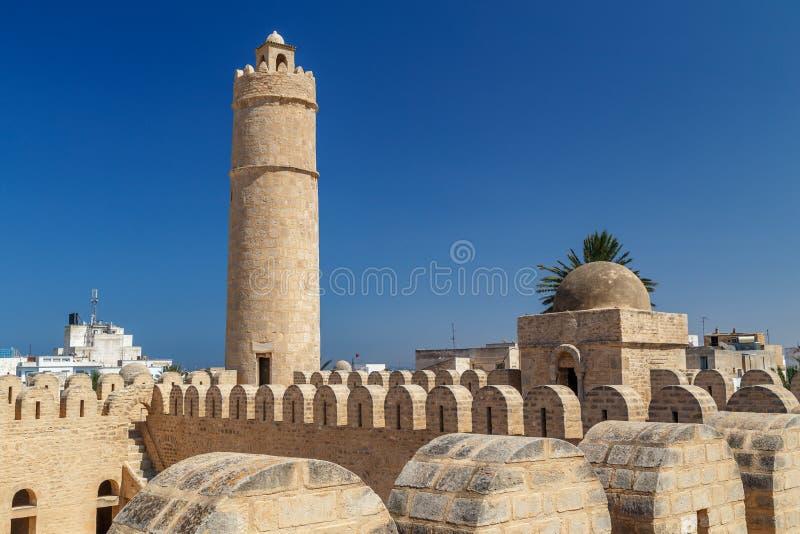 Fortezza di Ribat dentro Medina medievale di Susa fotografie stock