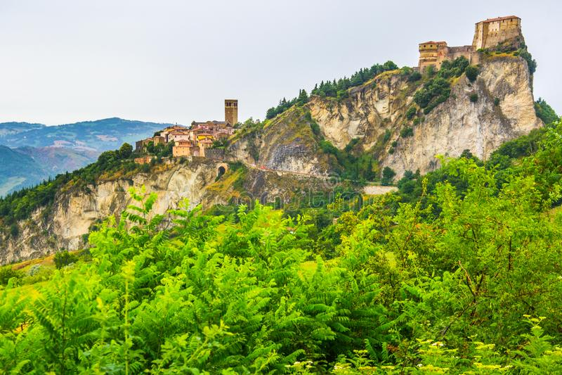 Fortezza di San Leo vicino a Rimini immagine stock libera da diritti