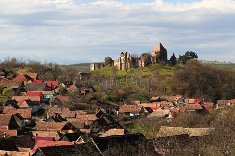 Fortezza di Slimnic, Sibiu, la Transilvania, Romania fotografia stock