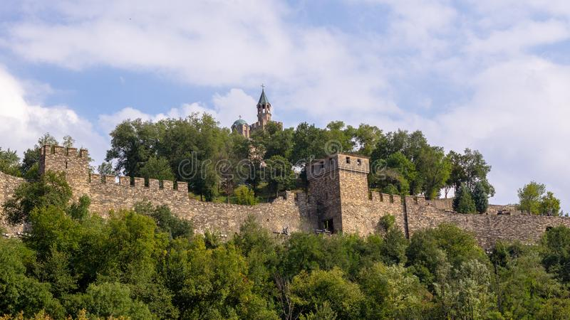 Fortezza di Tsarevets fotografia stock
