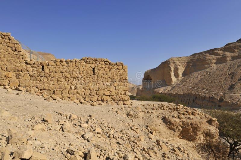 Fortezza di Zohar nel deserto di Judea. fotografia stock