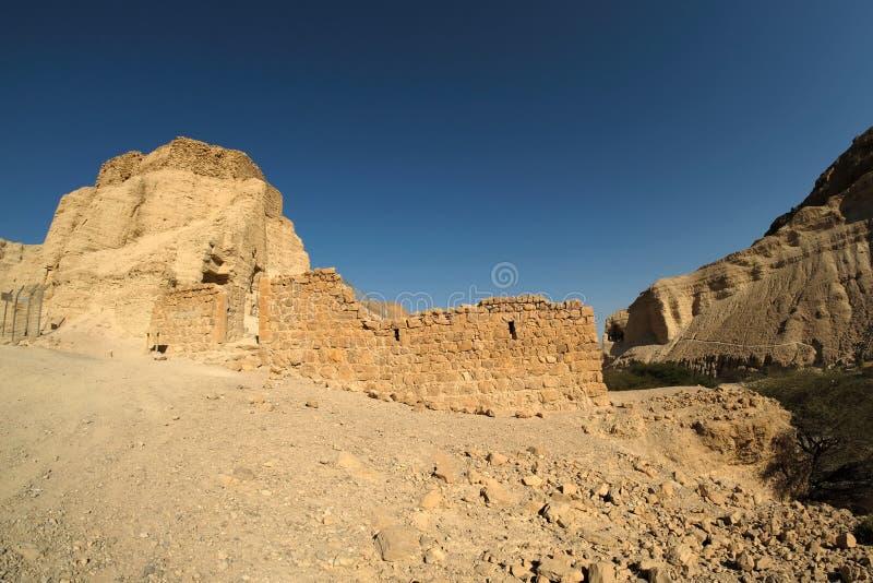Fortezza di Zohar nel deserto di Judea immagine stock libera da diritti