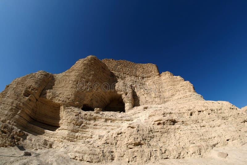 Fortezza di Zohar nel deserto di Judea immagine stock