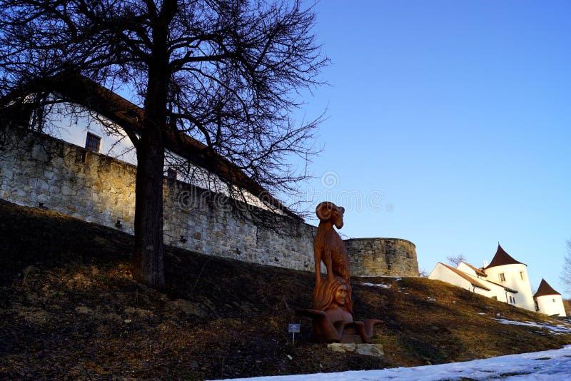 Fortezza di Zumberk, repubblica Ceca, Boemia del sud fotografia stock libera da diritti