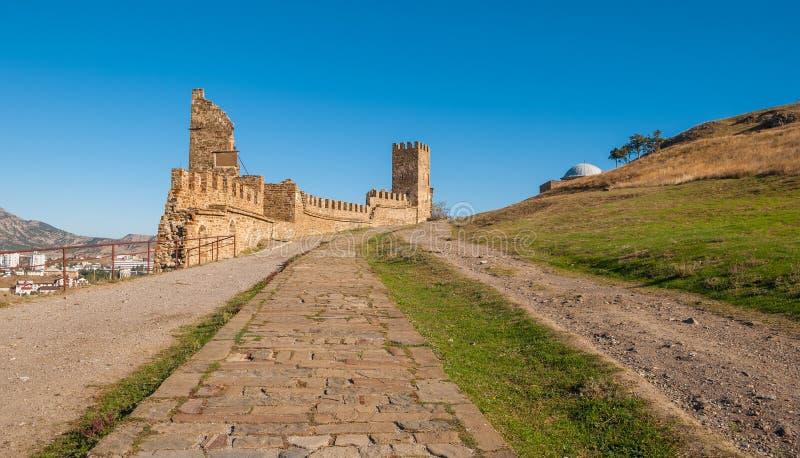 Fortezza genovese medievale fotografie stock libere da diritti