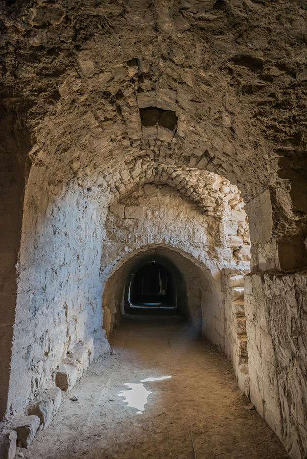 Fortezza Giordania del castello del crociato del kerak di Al Karak immagini stock