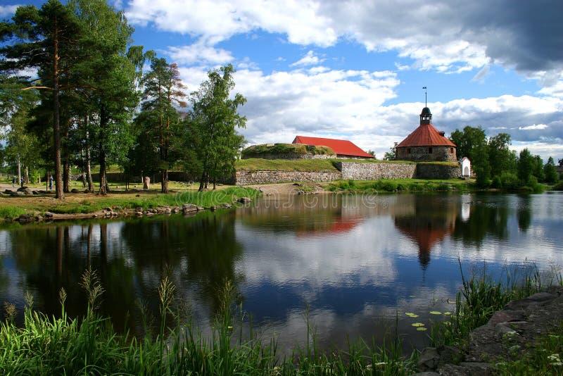 Fortezza Korela (Kareliya) immagini stock