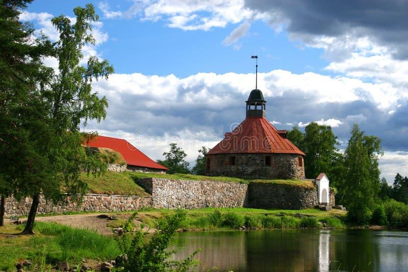 Fortezza Korela (Kareliya) fotografia stock
