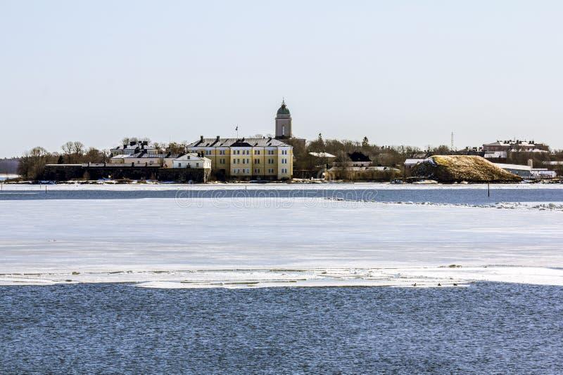 Fortezza marittima di Suomenlinna sulle isole nel porto della H immagini stock libere da diritti