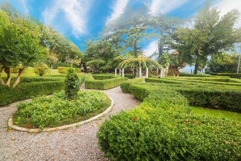 Fortezza Medicea garden in Montepulciano. Italy royalty free stock photos