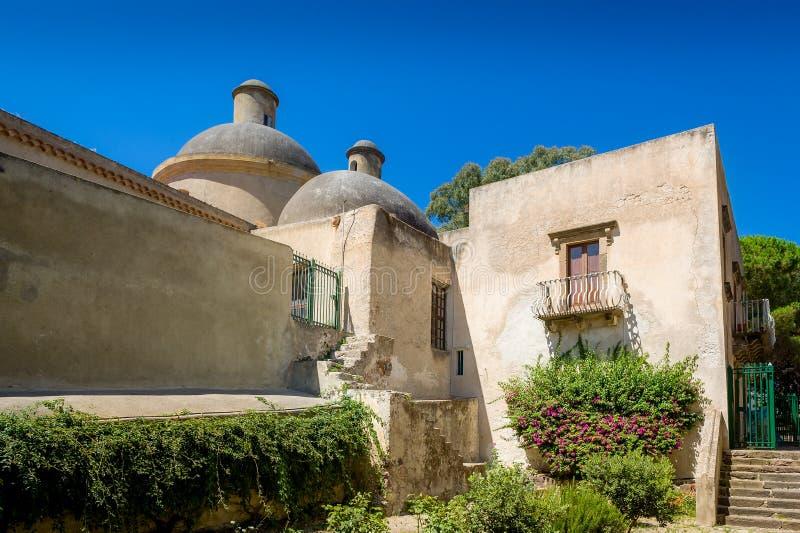 Fortezza medievale di Lipari fotografia stock libera da diritti