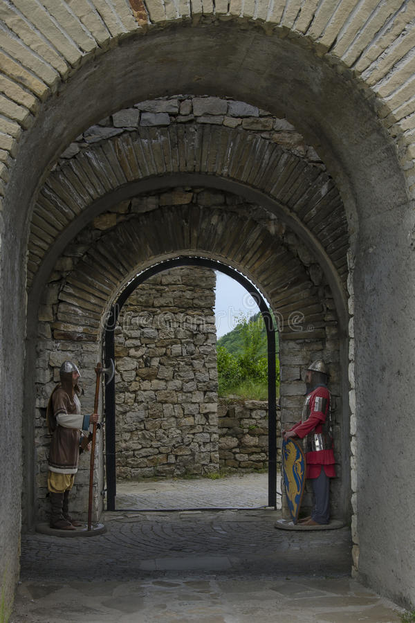 Fortezza medievale di Lovech, Bulgaria immagini stock libere da diritti