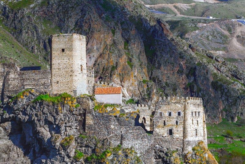 Fortezza medievale in Khertvisi, Georgia del sud fotografie stock