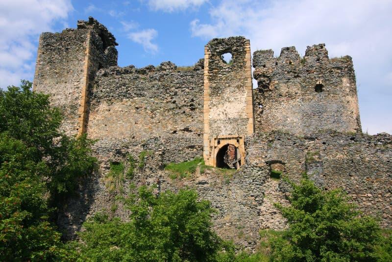 Fortezza medioevale di Soimos fotografia stock libera da diritti