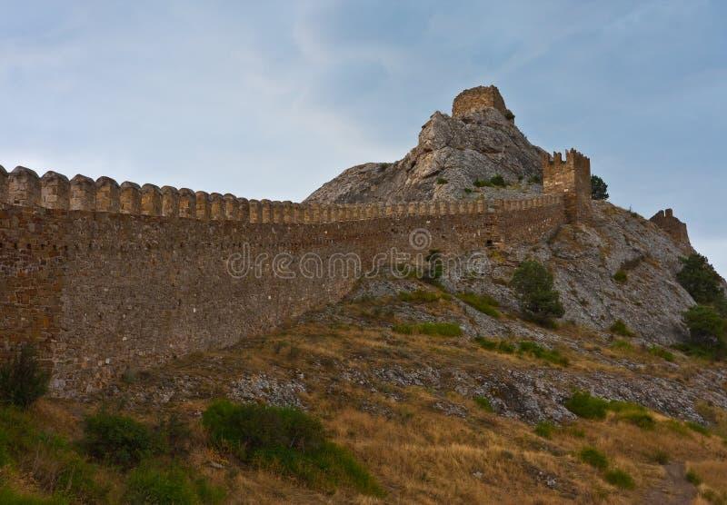 Fortezza medioevale Genoese immagine stock