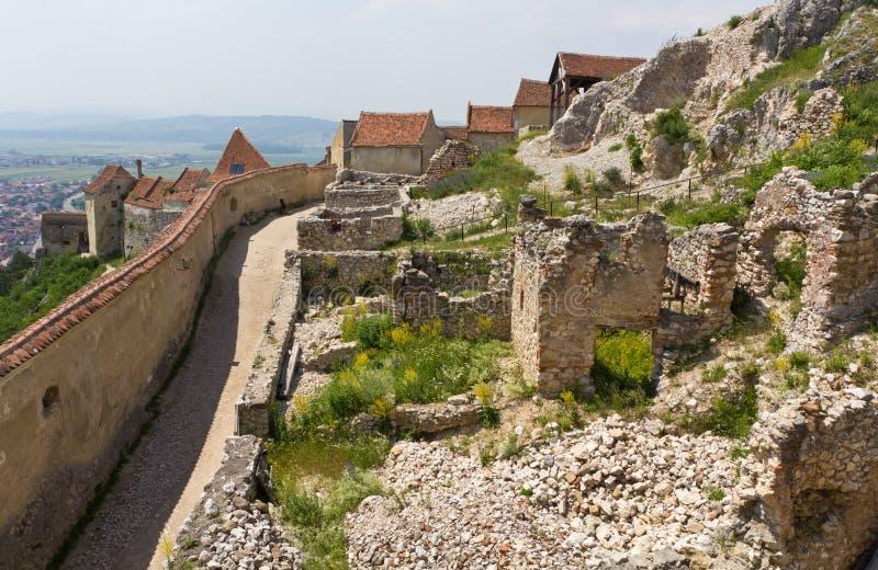 Fortezza medioevale Rasnov fotografia stock