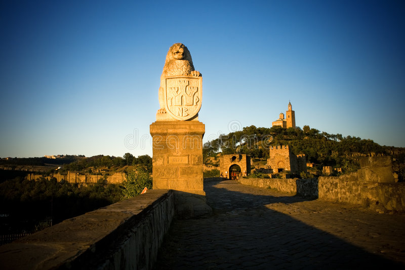 Fortezza medioevale in Veliko Tarnovo, Bulgaria immagine stock libera da diritti