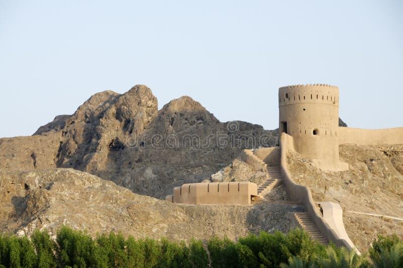 Fortezza in moscato Oman immagine stock