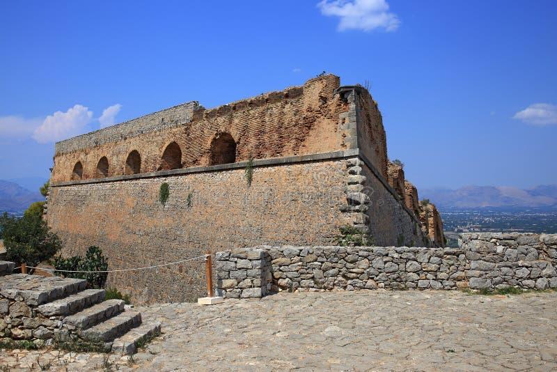 Fortezza in Nauplia, Grecia di Palamidi immagini stock libere da diritti