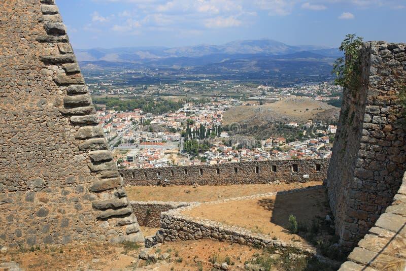 Fortezza in Nauplia, Grecia di Palamidi immagini stock