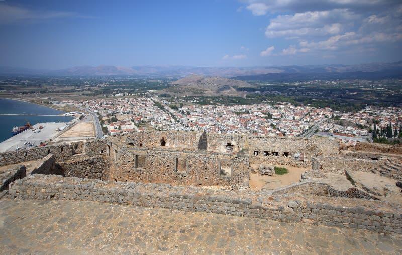 Fortezza in Nauplia, Grecia di Palamidi fotografie stock libere da diritti