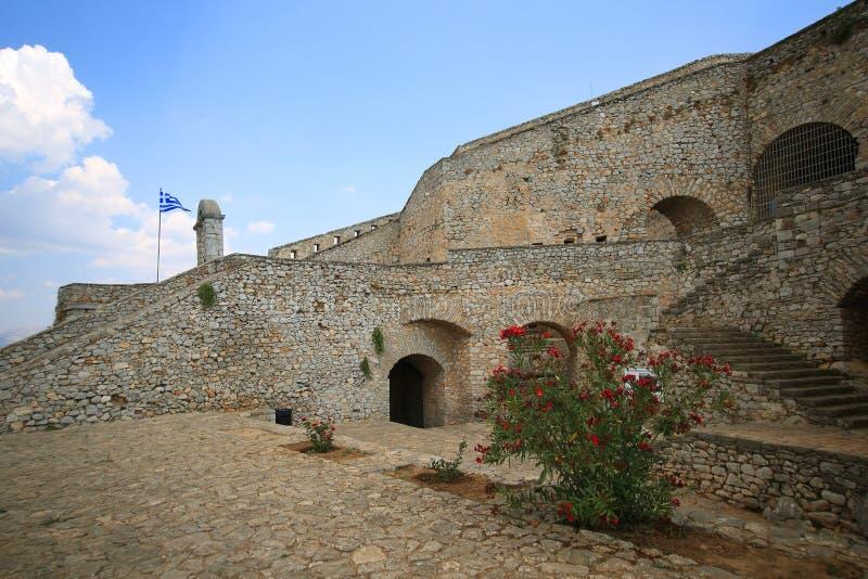 Fortezza in Nauplia, Grecia di Palamidi fotografie stock