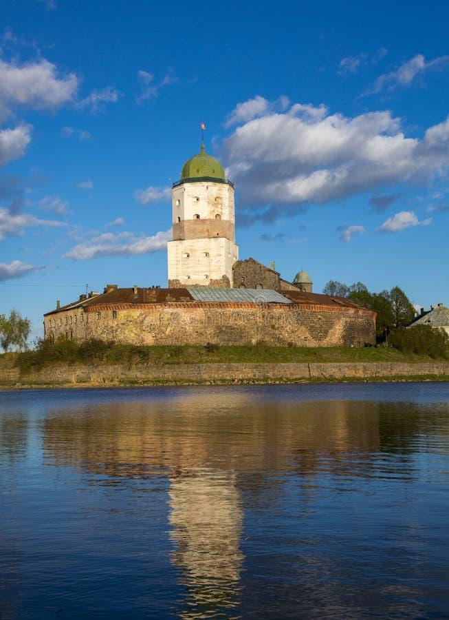 Fortezza nella città di Vyborg in Russia immagine stock libera da diritti