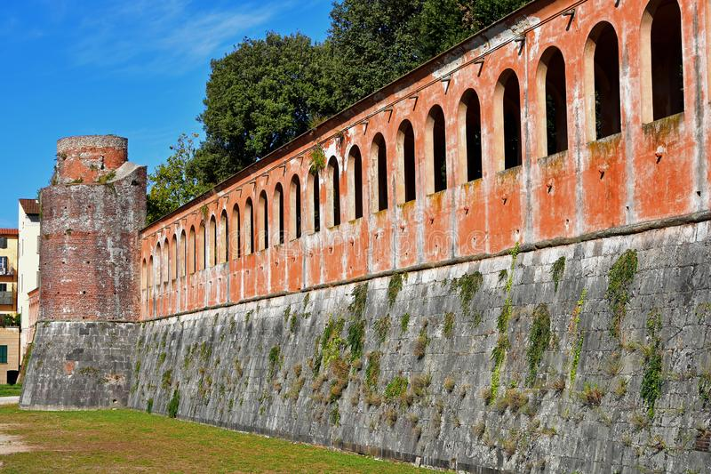 Fortezza Nuova New Fortress Pisa, Tuscany, Italy. The Cittadella Nuova New Citadel, now called the Giardino di Scotto or Giardino Scotto Scotto`s Garden is an stock image