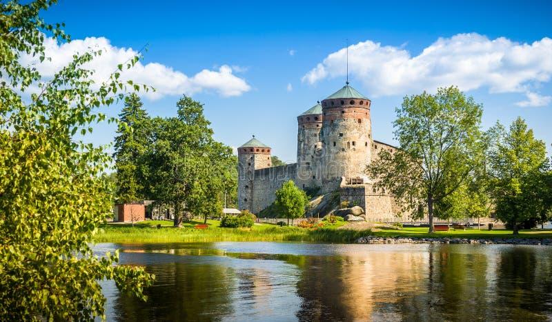 Fortezza Olavinlinna immagini stock