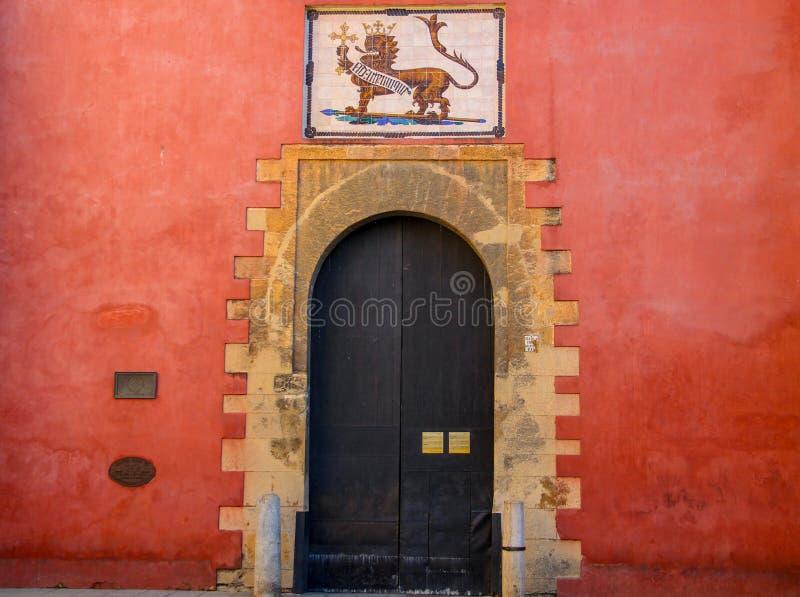 Fortezza reale di alcazar a Sevilla fotografia stock libera da diritti