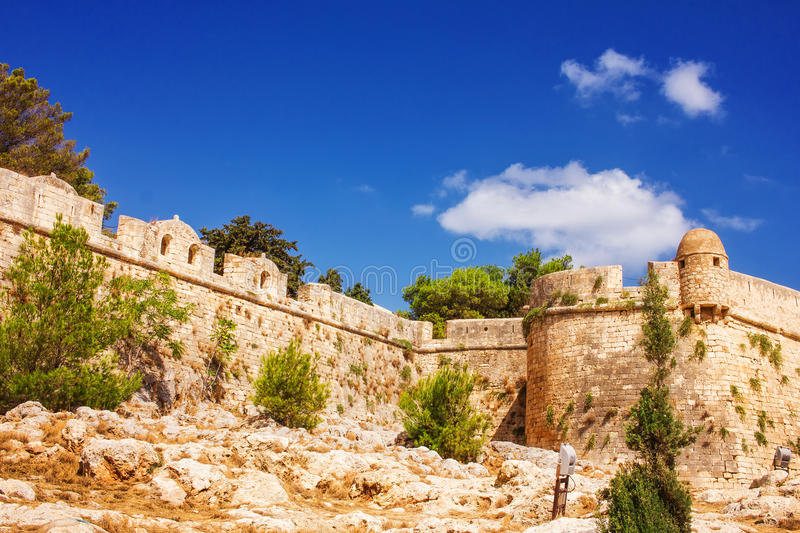 Fortezza of Rethymno - The Venetian Fortress in the Old Town of Rethymno, Crete. Island, Greece stock image