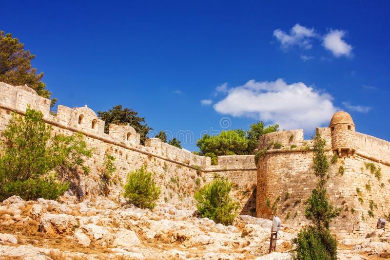 Fortezza Rethymno - Wenecki forteca w Starym miasteczku Rethymno, Crete obraz stock