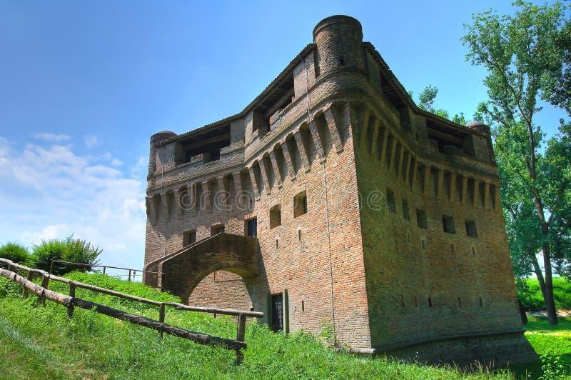 Fortezza Rocca Stellata. Bondeno. L'Emilia Romagna. L'Italia. fotografia stock