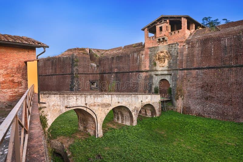 Fortezza Santa Barbara a Pistoia, Italia fotografie stock libere da diritti