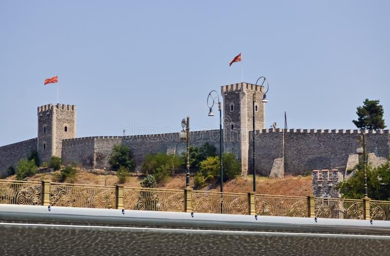 Fortezza a Skopje immagini stock